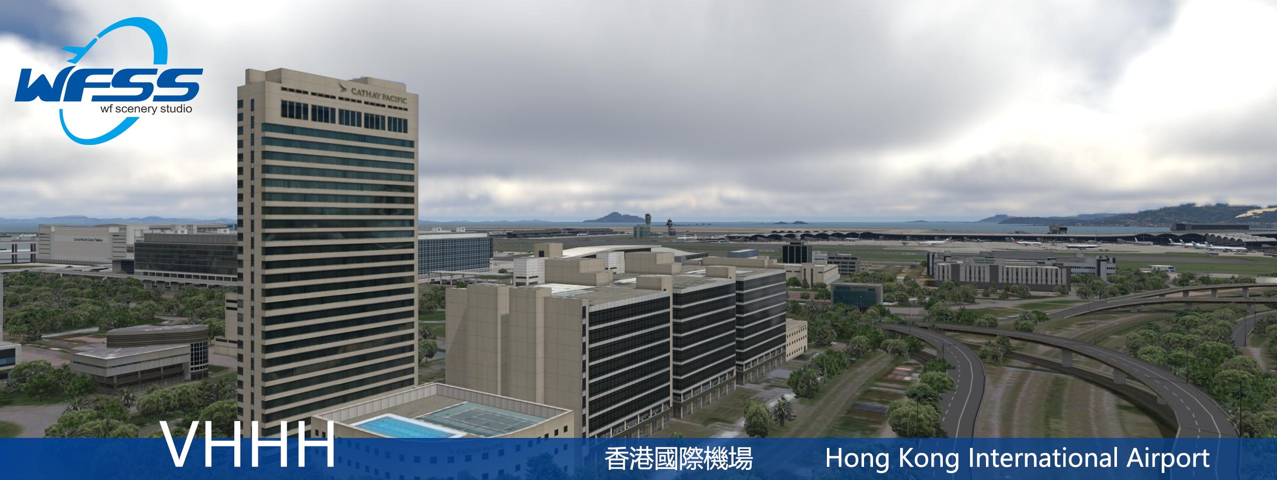 WF SCENERY STUDIO - HONG KONG INTERNATIONAL AIRPORT VHHH P3D