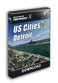 AEROSOFT - US CITIES X - DETROIT FSX P3D