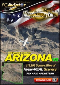 PC AVIATOR - MEGASCENERY EARTH V3 - ARIZONA FSX P3D