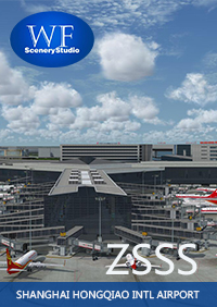 WF SCENERY STUDIO - SHANGHAI HONGQIAO INTERNATIONAL AIRPORT ZSSS FSX P3D