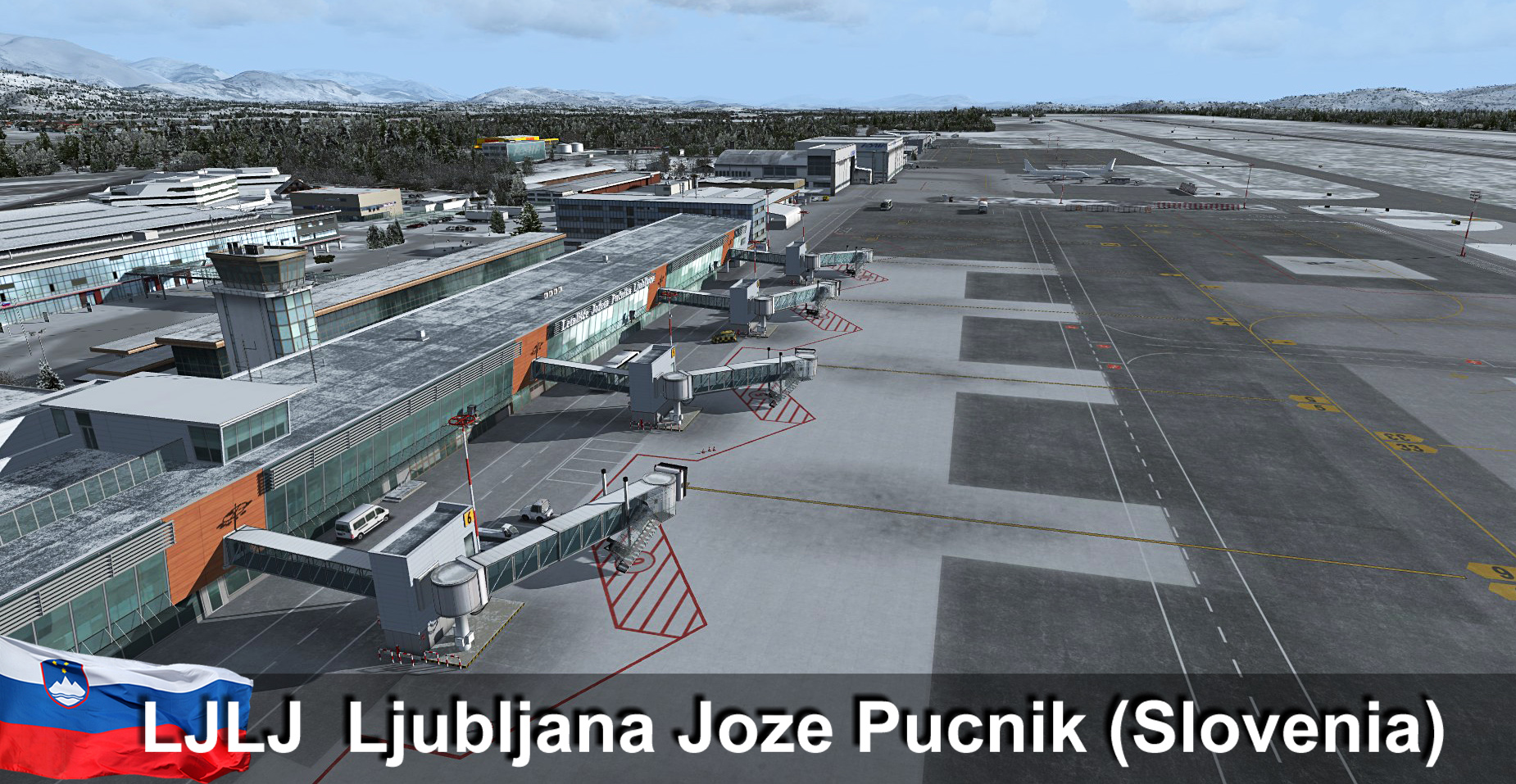 RFSCENERYBUILDING - LJLJ LJUBLJANA INTERNATIONAL AIRPORT FSX P3D