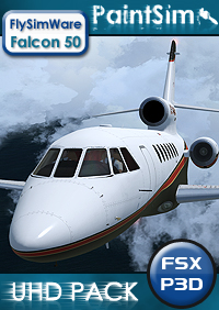 PAINTSIM - UHD TEXTURE PACK FOR FLYSIMWARE FALCON 50 FSX P3D