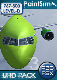 PAINTSIM - UHD TEXTURE PACK 3 FOR LEVEL-D BOEING 767-300ER FSX P3D