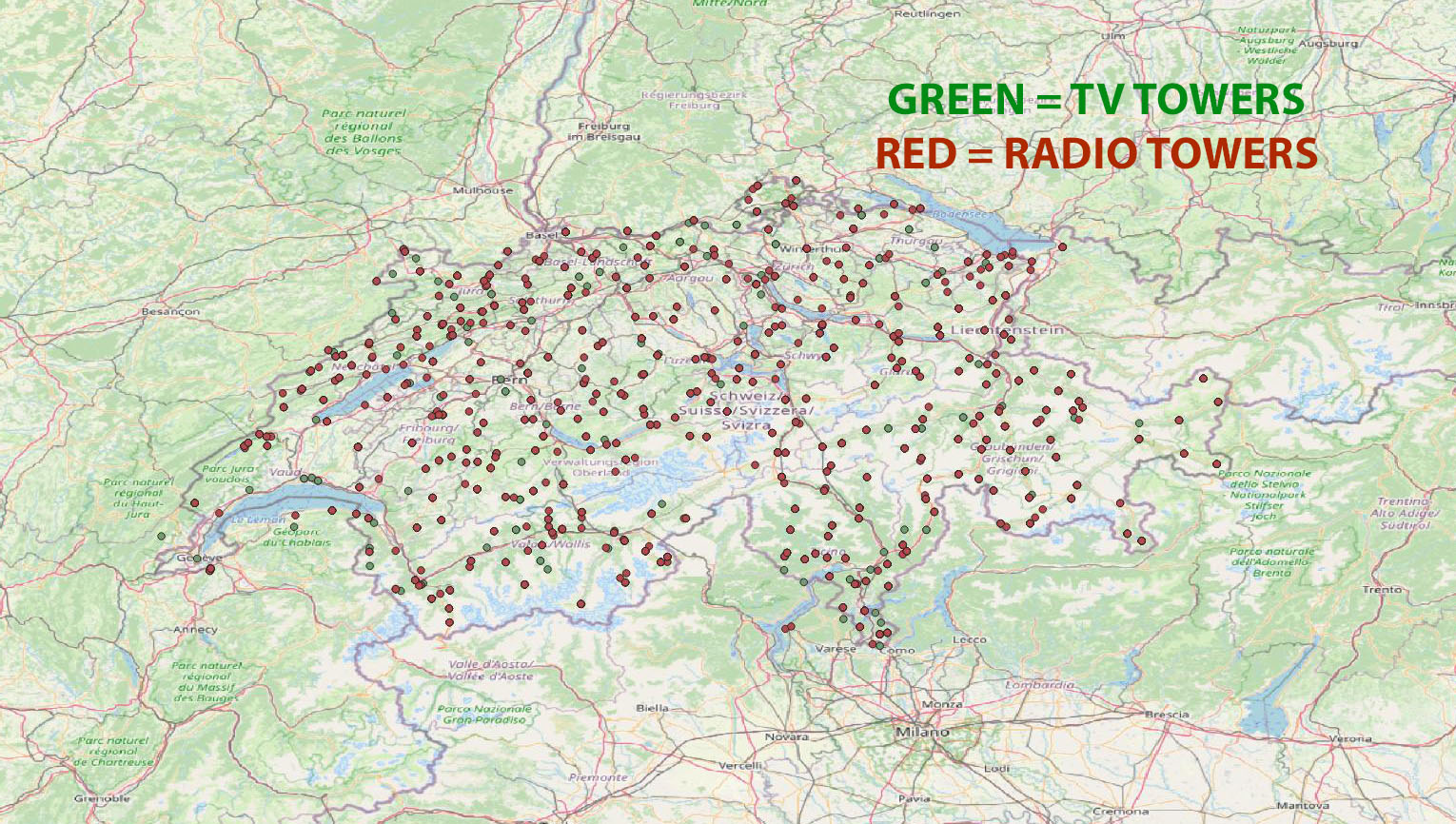 TABURET - SWITZERLAND VFR TV AND RADIO MASTS MSFS
