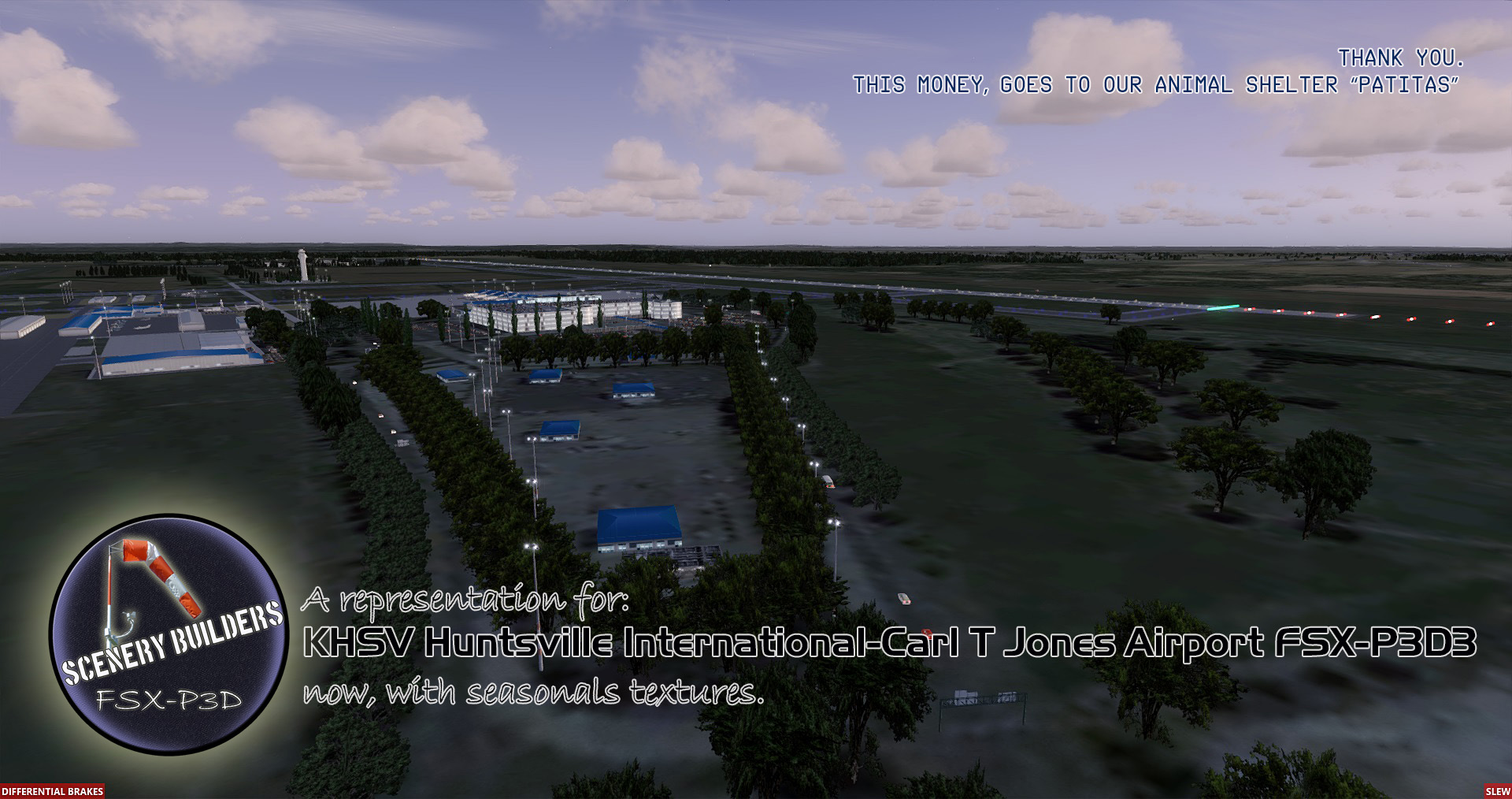 FSXCENERY -   KHSV HUNTSVILLE INTERNATIONAL AIRPORT FSX P3D