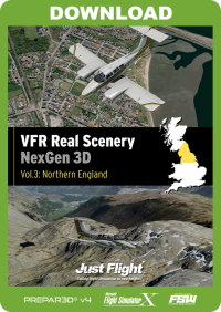 JUSTFLIGHT - VFR REAL SCENERY NEXGEN 3D VOL 4 SCOTLAND FSX P3D
