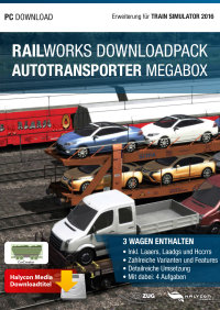 RAILWORKS DOWNLOADPACK - AUTOTRANSPORTER MEGABOX - ERWEITERUNG FÜR TRAIN SIMULATOR 2017
