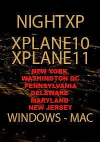 TABURET - NIGHT XP NEW YORK WASHINGTON DC PENNSYLVANIA DELAWARE MARYLAND NEW JERSEY FOR X-PLANE 10/11