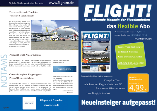 FLIGHT! MAGAZIN - SOMMER AUSGABE 06 2012