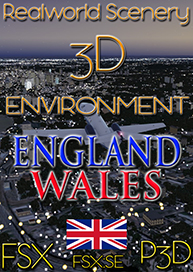 REALWORLD SCENERY - ENGLAND WALES 3D ENVIRONMENT FSX P3D