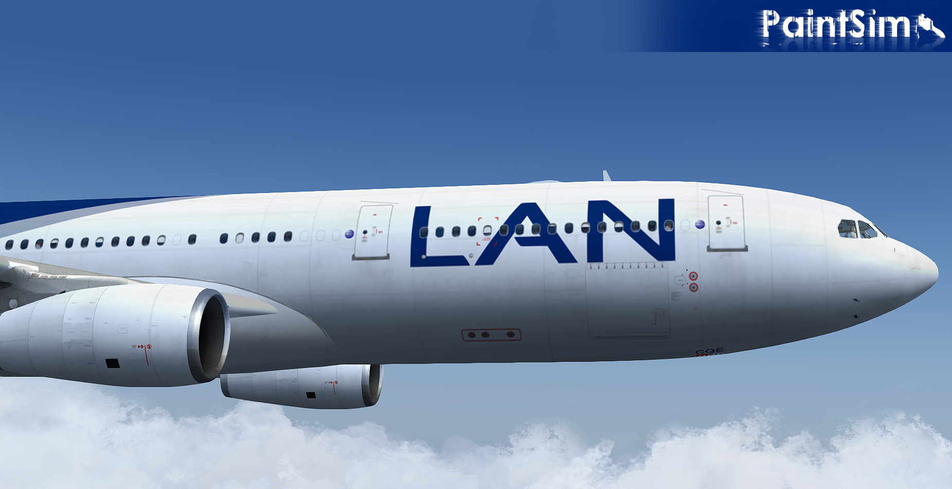 PAINTSIM - HD TEXTURE PACK FOR WILCO AIRBUS A340 FS2004