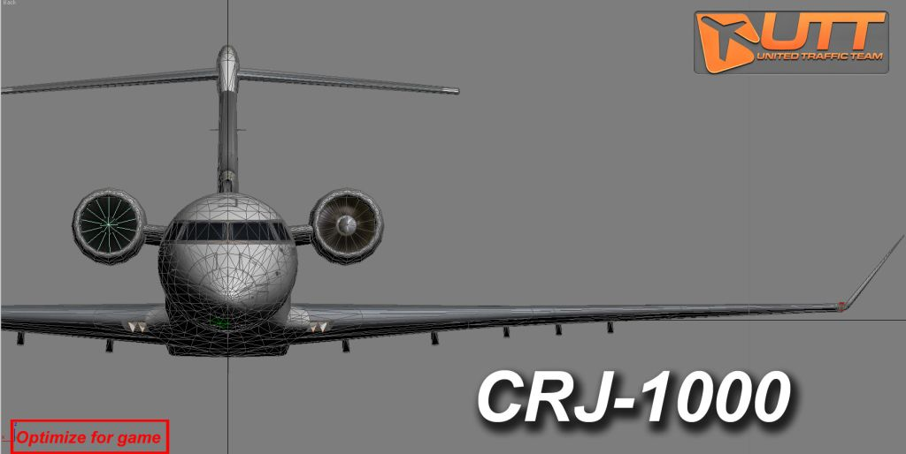 UTT - BOMBARDIER CRJ-1000 SOURCE MODEL FOR 3DS MAX