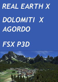 REAL EARTH X - DOLOMITI X: AGORDO FSX P3D