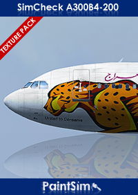 PAINTSIM - HD TEXTURE PACK 4 FOR SIMCHECK AIRBUS A300B4-200 FSX