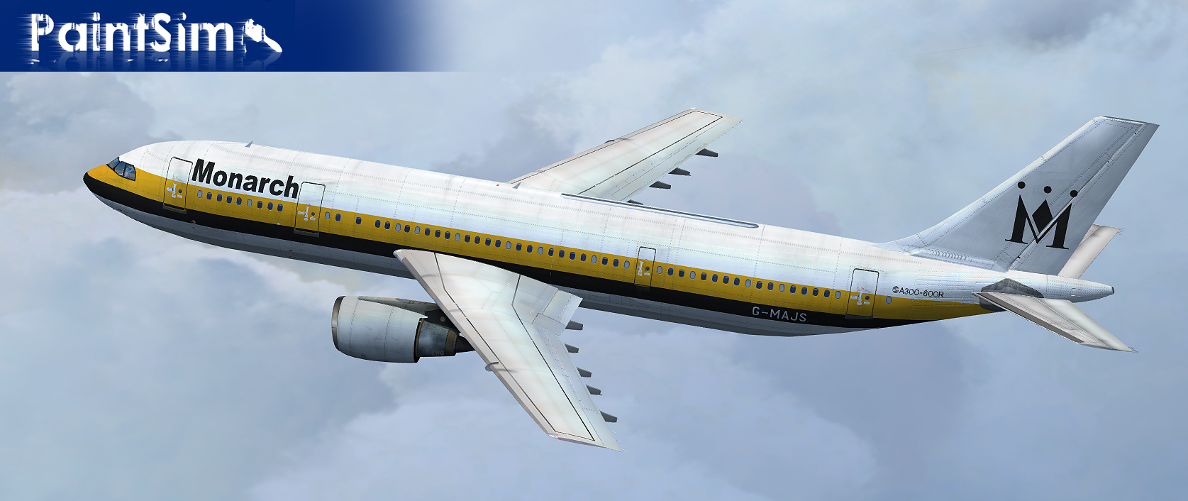 PAINTSIM - HD TEXTURE PACK 10 FOR SIMCHECK AIRBUS A300B4-200 FSX
