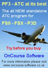 ONCOURSE SOFTWARE - PF3 - ATC AT ITS BEST FSX P3D FS2004