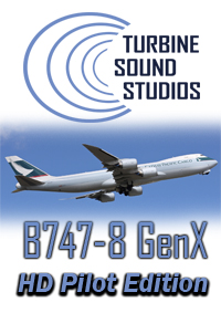 TURBINE SOUND STUDIOS - BOEING 747-8i GENX HD PILOT EDITION SOUNDPACK FOR FS2004