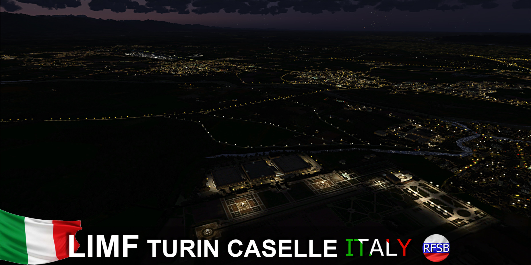 RFSCENERYBUILDING - LIMF TURIN CASELLE FSX P3D