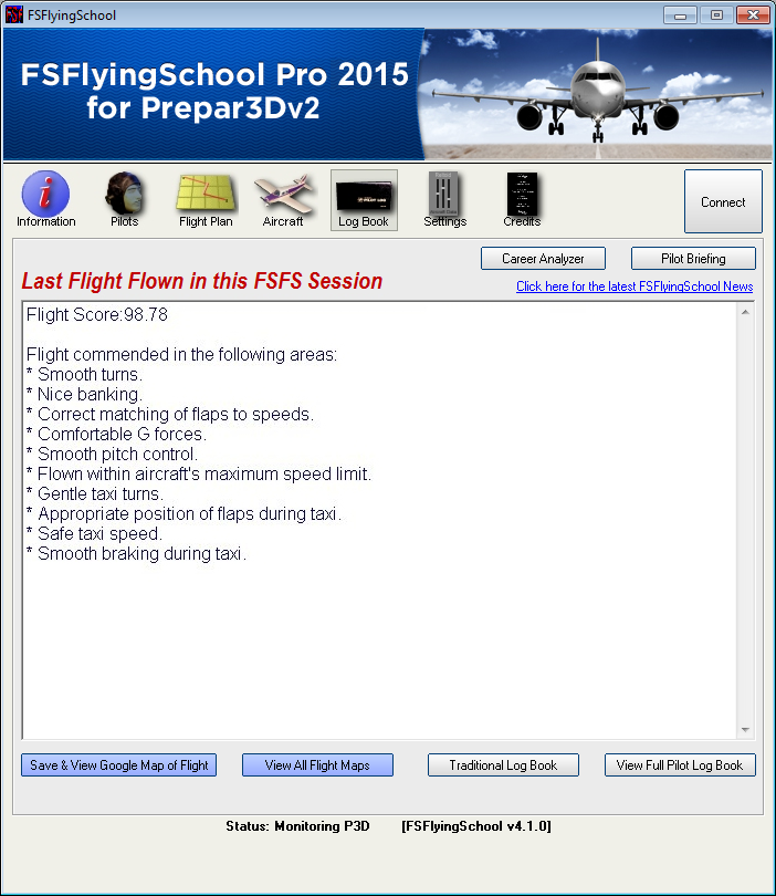 FSINVENTIONS- FSFLYINGSCHOOL PRO 2015 FOR PREPAR3D V2