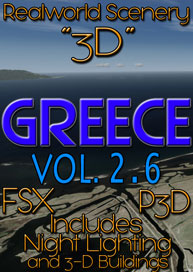 REALWORLD SCENERY - REALWORLD SCENERY GREECE 3D VOL.2.6 FSX P3D