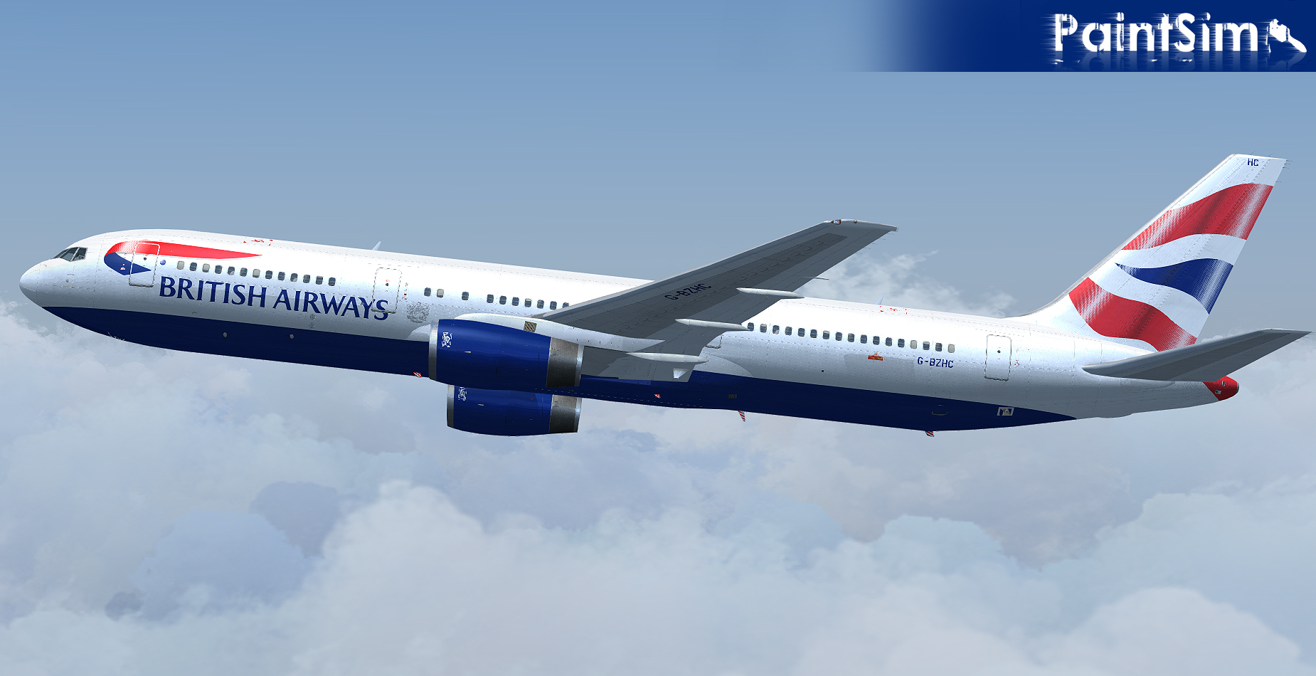 PAINTSIM - UHD TEXTURE PACK 5 FOR LEVEL-D BOEING 767-300ER FSX P3D