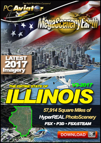 MEGASCENERYEARTH - ILLINOIS V3 2017 FSX P3D