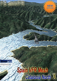 FSSIMVFR - SPAIN VFR MESH - CATALONIA NORTH X V2 FSX P3D