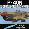 FLIGHT REPLICAS - CURTISS P-40N WARHAWK / KITTYHAWK IV COMPLETE PACKAGE FOR FSX