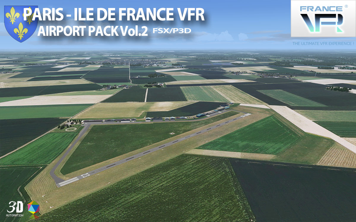 FRANCEVFR - PARIS - ILE DE FRANCE VFR - AIRPORT PACK VOL2 FSX