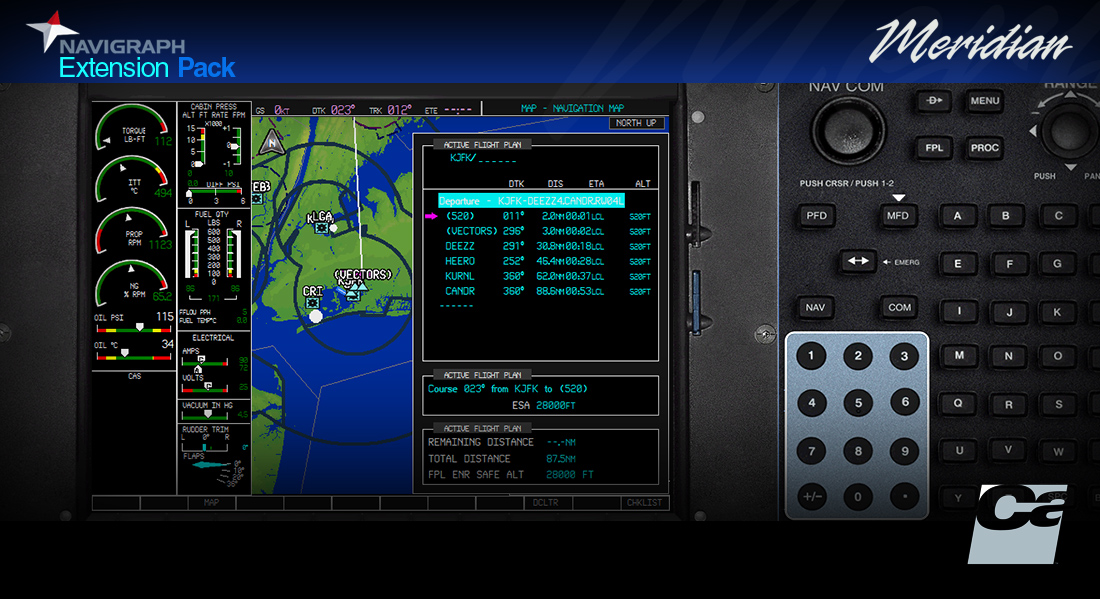 CARENADO - NAVIGRAPH PA46 MERIDIAN EXTENSION PACK FSX P3D