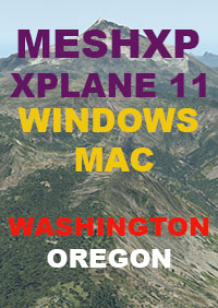 TABURET - MESH XP WASHINGTON AND OREGON FOR X-PLANE 11