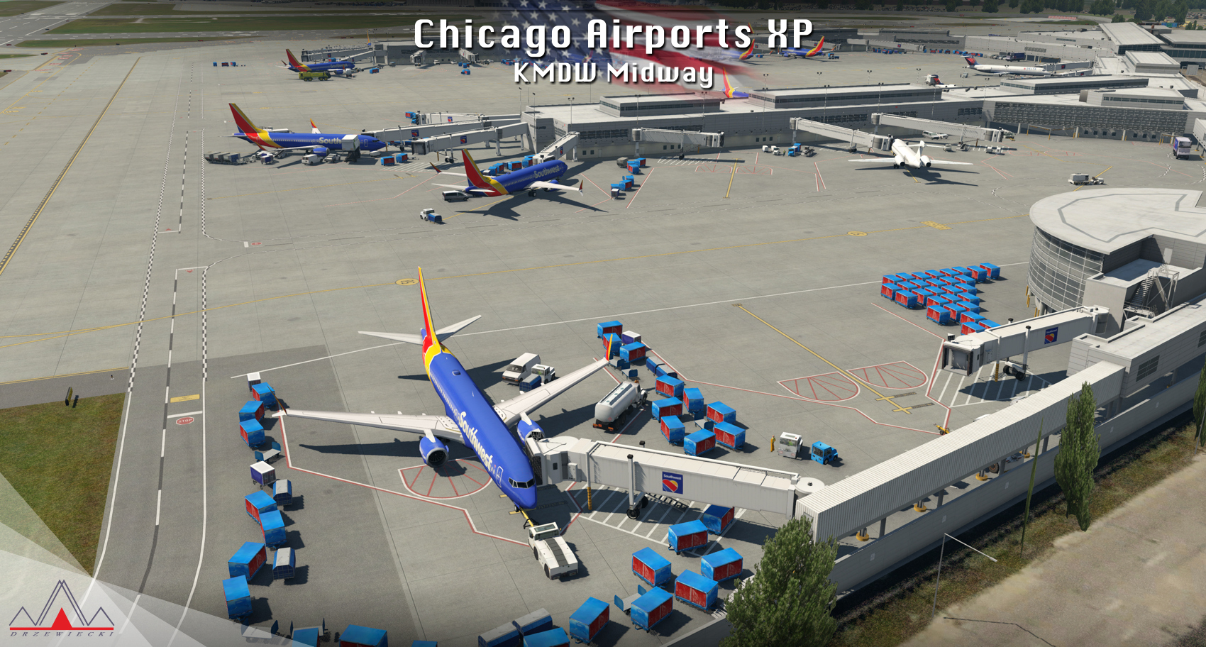 DRZEWIECKI DESIGN - CHICAGO AIRPORTS XP X-PLANE 11