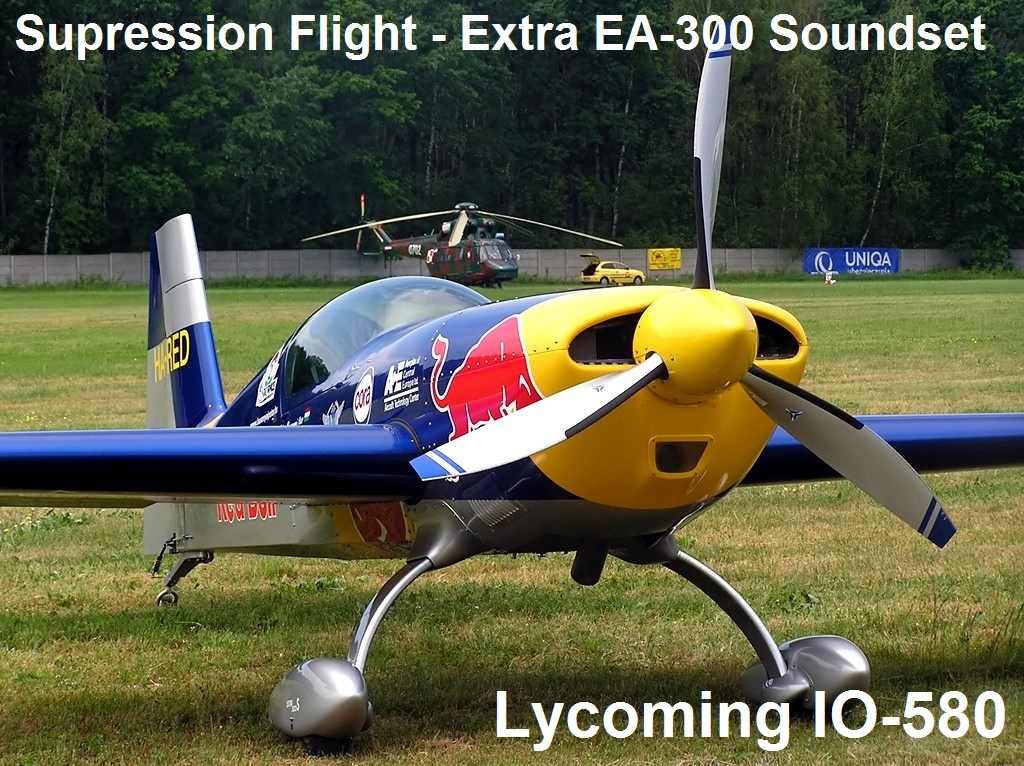 SUPRESSION FLIGHT - EXTRA EA-300 SOUNDSET - LYCOMING IO-580