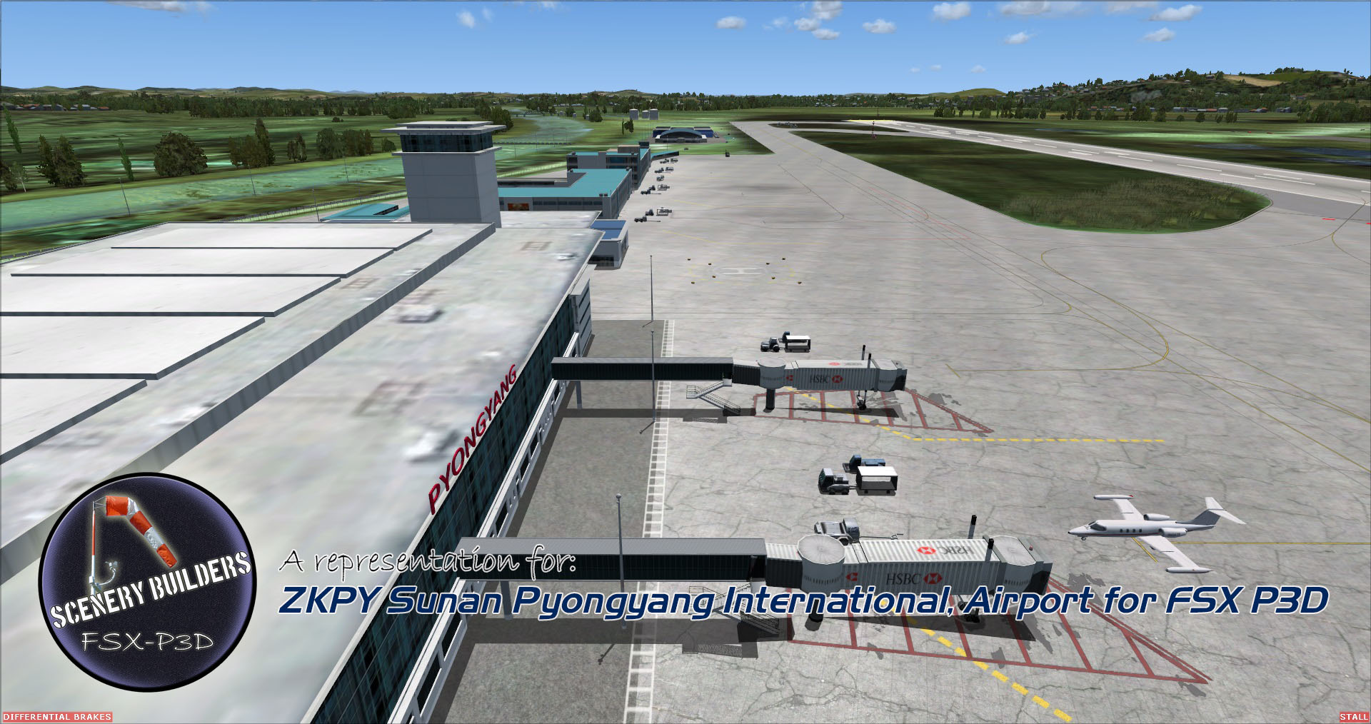 FSXCENERY - ZKPY SUNAN PYONGYANG INTERNATIONAL AIRPORT FSX P3D