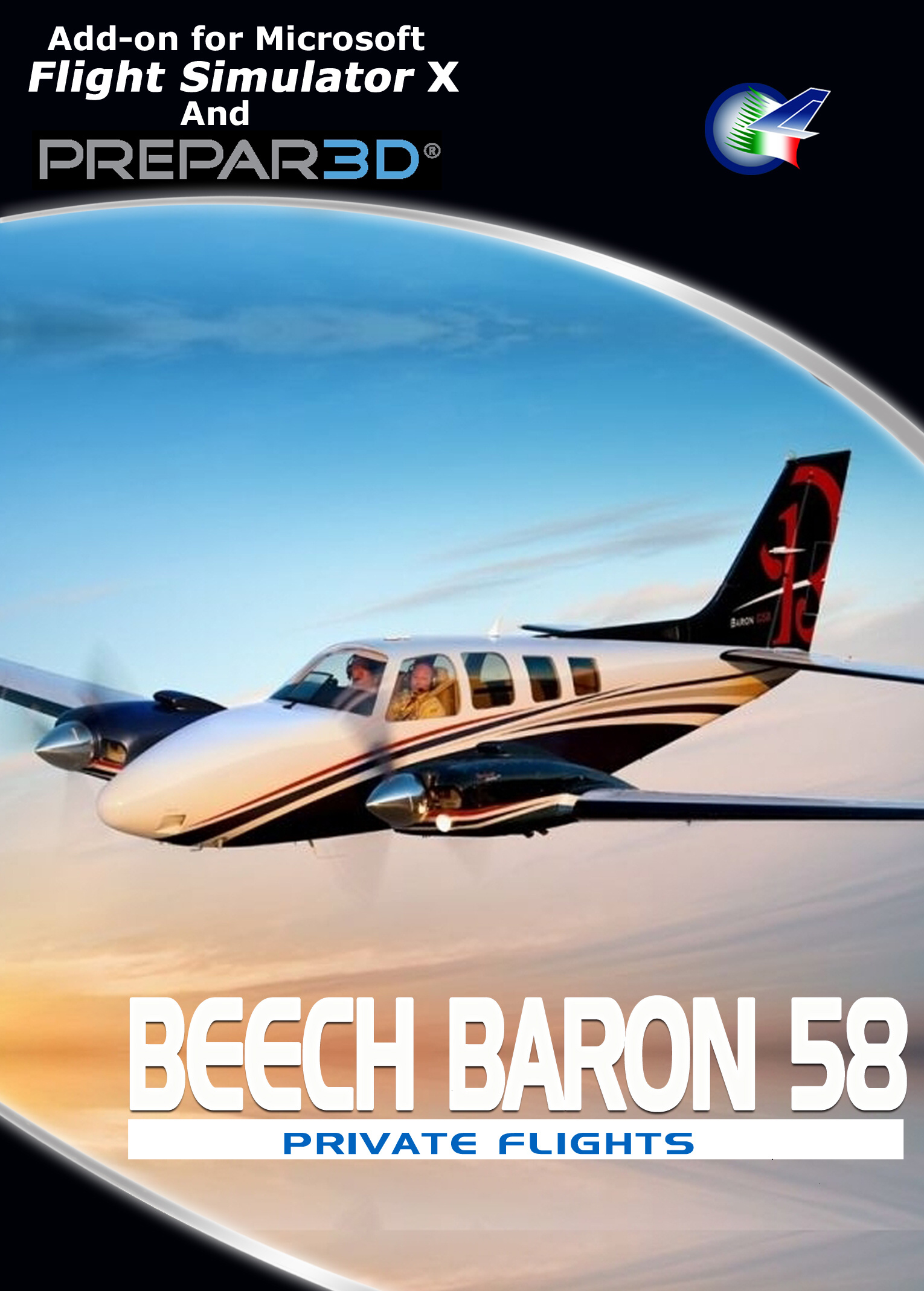 PERFECT FLIGHT - PRIVATE FLIGHTS - BEECH BARON 58 FSX P3D