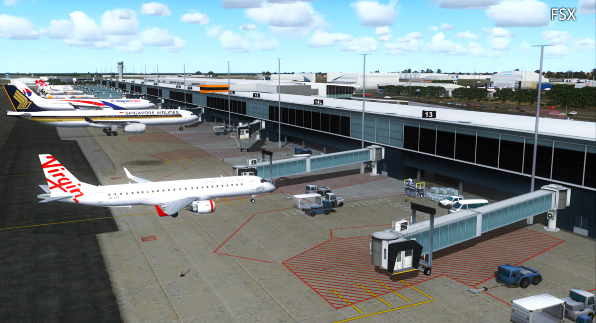 AUSCENE 2 - ADELAIDE INTERNATIONAL X V2.1 FSX P3D