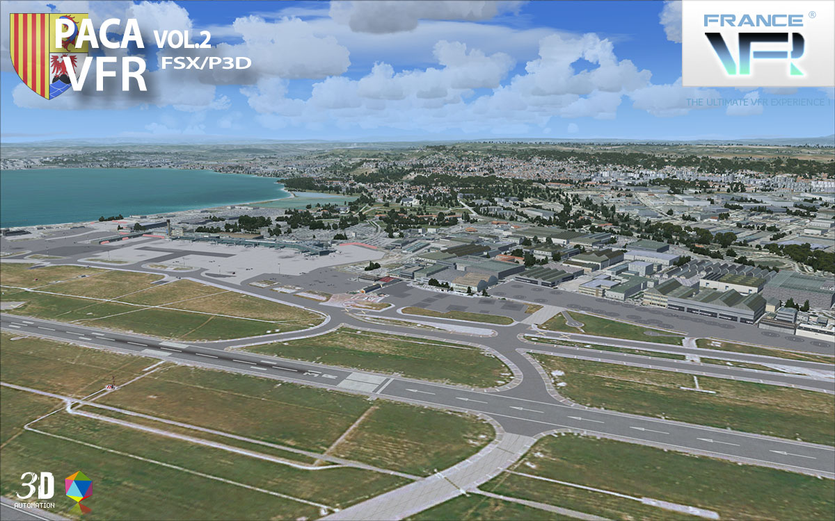 FRANCEVFR - FRENCH RIVIERA VFR 3D AUTOMATION VOL. 2  FSX