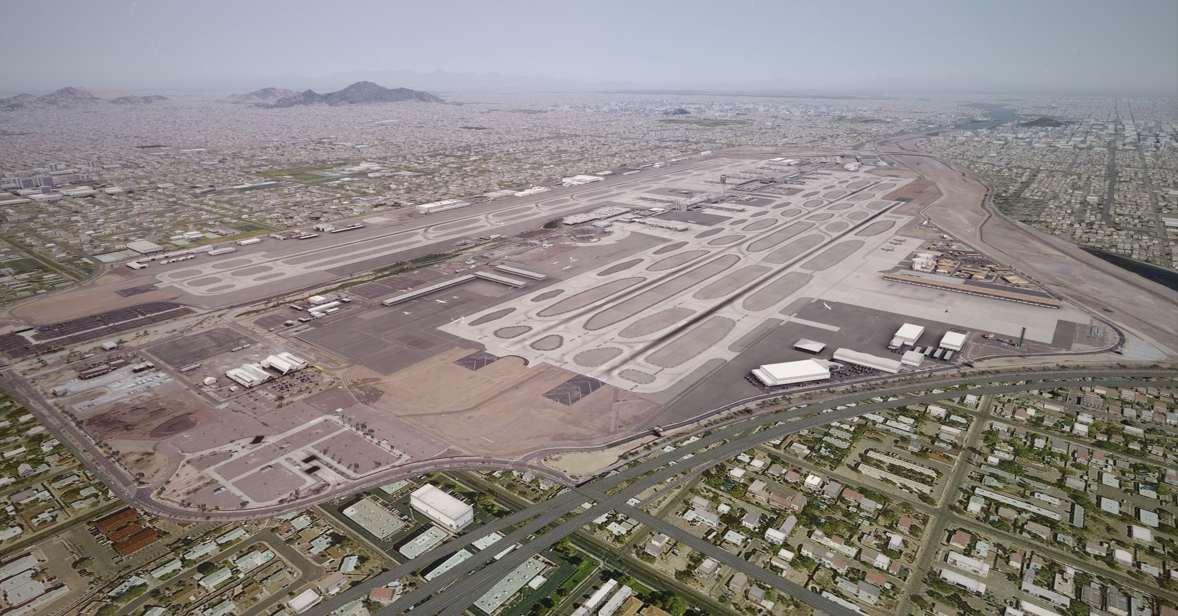 FLIGHTBEAM STUDIOS - KPHX - PHOENIX SKY HARBOR INTERNATIONAL AIRPORT FSX P3D