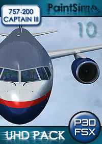 PAINTSIM - UHD TEXTURE PACK 10 FOR CAPTAIN SIM BOEING 757-200 III FSX P3D