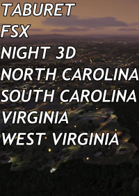 TABURET - FSX P3D NIGHT 3D NORTH CAROLINA SOUTH CAROLINA VIRGINIA WEST VIRGINIA