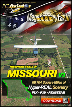 MEGASCENERYEARTH - PC AVIATOR - MEGASCENERY EARTH V3 - MISSOURI FSX P3D