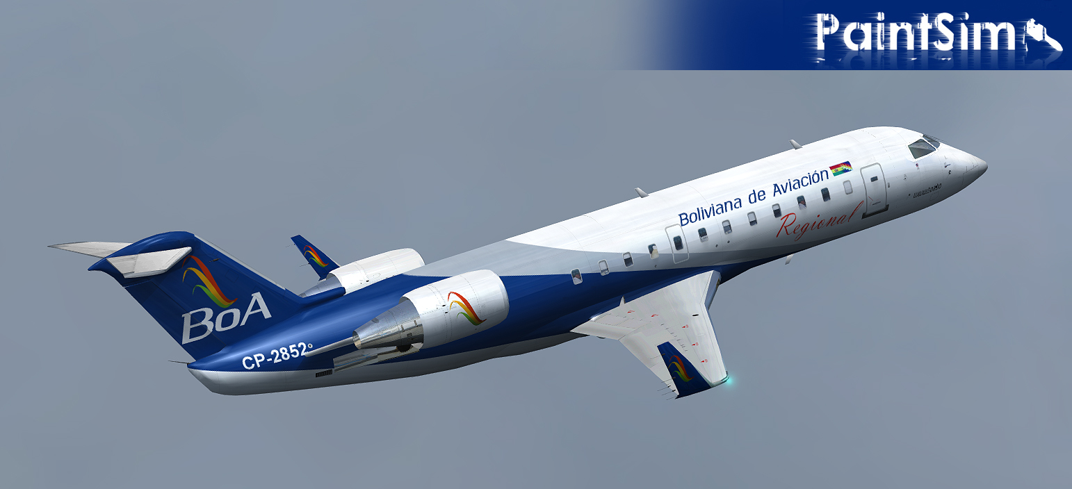 PAINTSIM - HD TEXTURE PACK FOR WILCO BOMBARDIER CRJ-200 FSX
