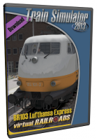 VIRTUAL RAILROADS - DB BR103 LUFTHANSA AIRPORT EXPRESS WITH LUFTHANSA APMZ/BPMZ COACHES