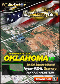 MEGASCENERYEARTH - PC AVIATOR - MEGASCENERY EARTH V3 - OKLAHOMA FSX P3D