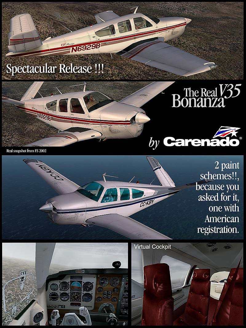 CARENADO - BONANZA V35 FS2004
