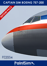 PAINTSIM - HD TEXTURE PACK FOR CAPTAIN SIM BOEING 757-200 FS2004