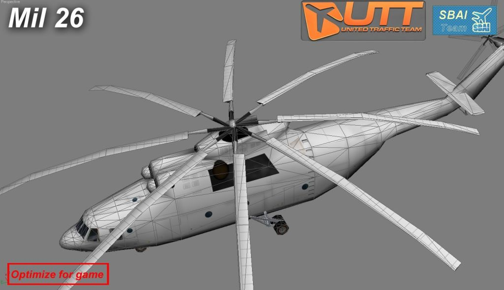 UTT - MIL 26 HELICOPTER SOURCE MODEL FOR 3DS MAX