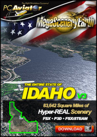 PC AVIATOR - MEGASCENERY EARTH V3 - IDAHO FSX P3D
