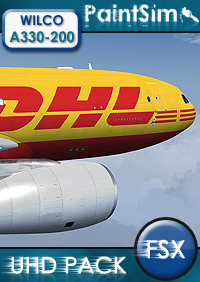 PAINTSIM - UHD TEXTURE PACK FOR WILCO AIRBUS A330-200 FSX