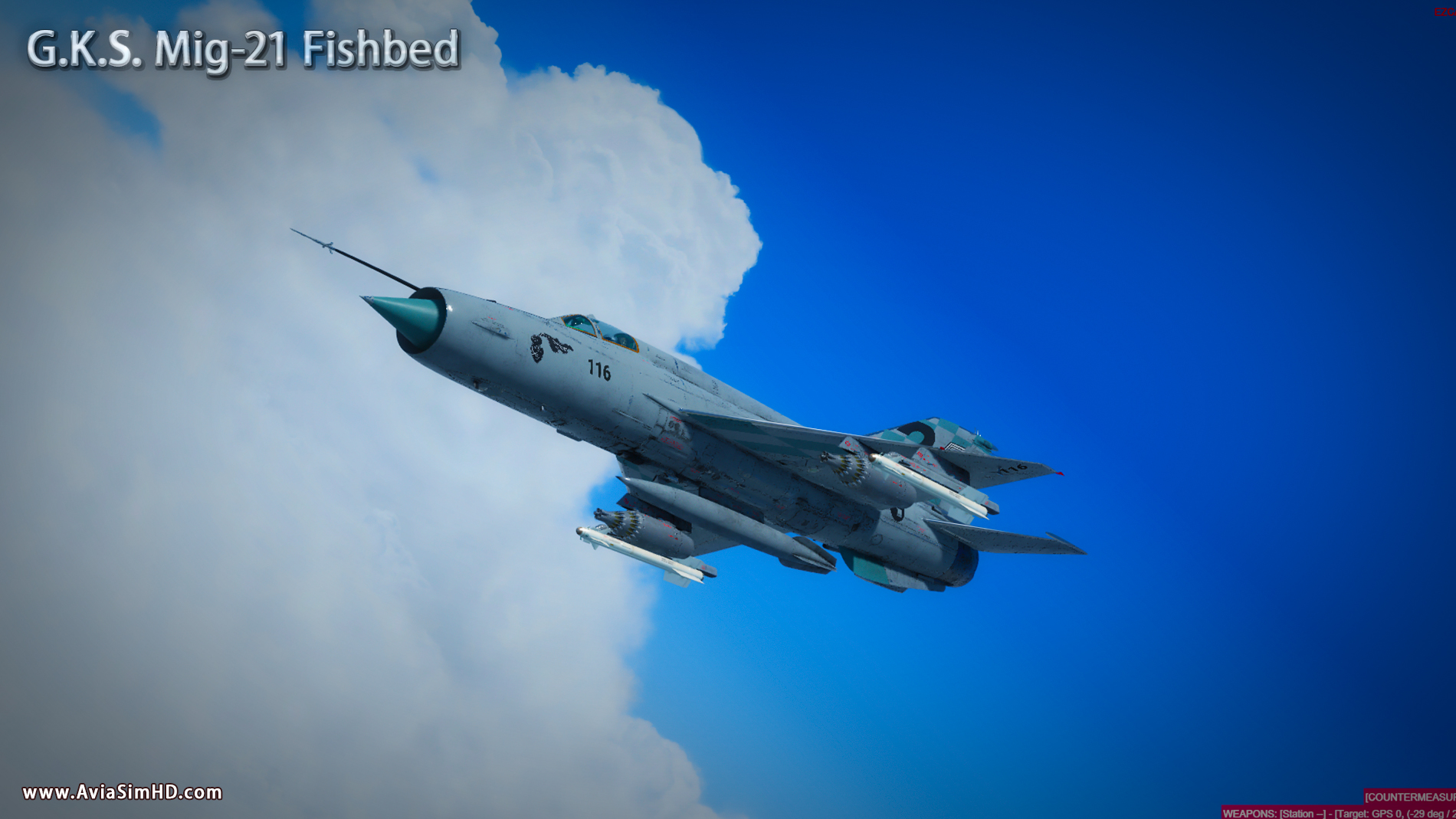 "GOLDEN KEY STUDIO - MIG-21BIS ""FISHBED"" EXTENDED EDITION P3D4-5"